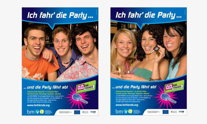 """Poster """"Ich fahr die Party und die Party fährt ab"""""""