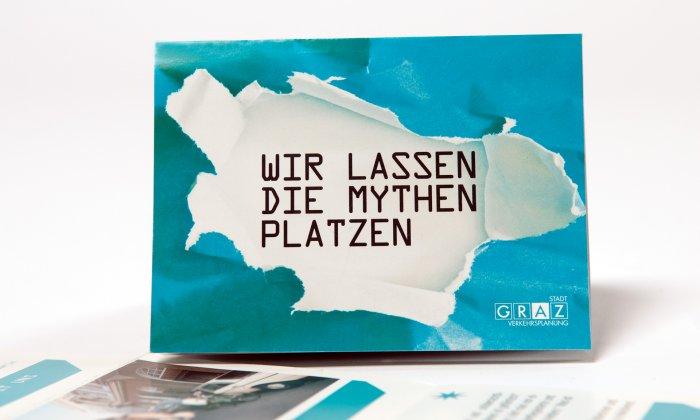"""Folder """"Wir lassen die Mythen platzen"""""""