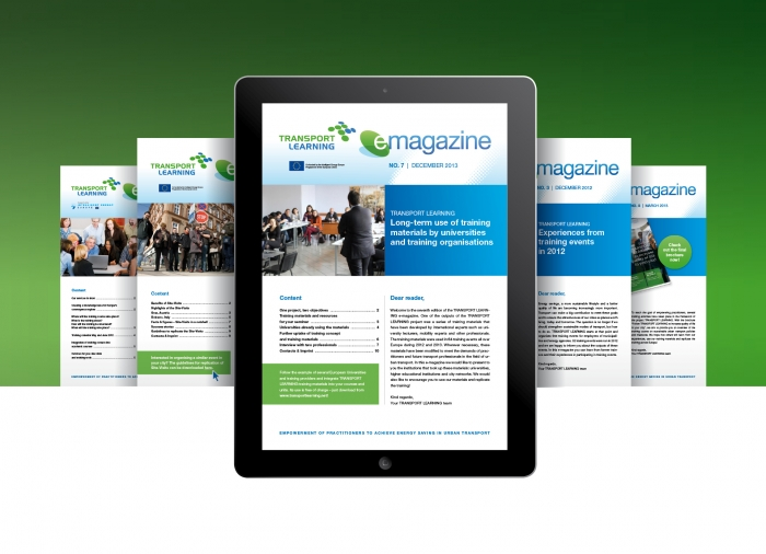 TRANSPORT LEARNING e-magazine covers EN